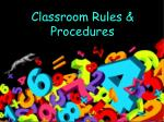 classroom rules procedures