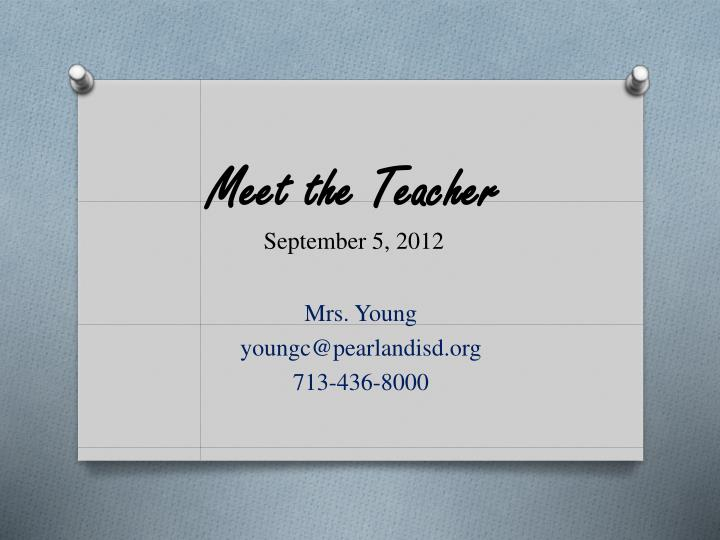 meet the teacher september 5 2012 n.