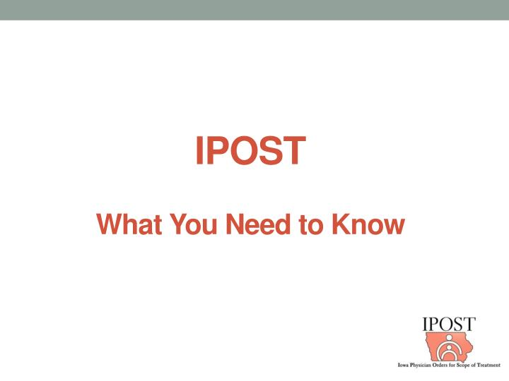 ipost what you need to know n.