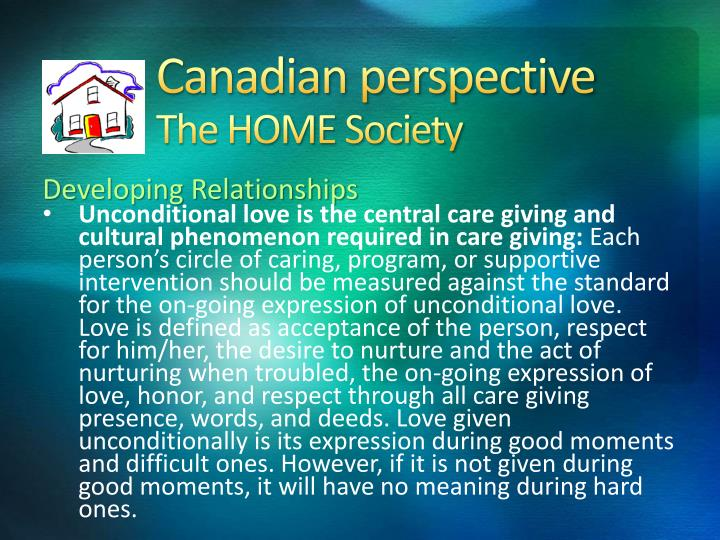 canadian perspective the home society n.