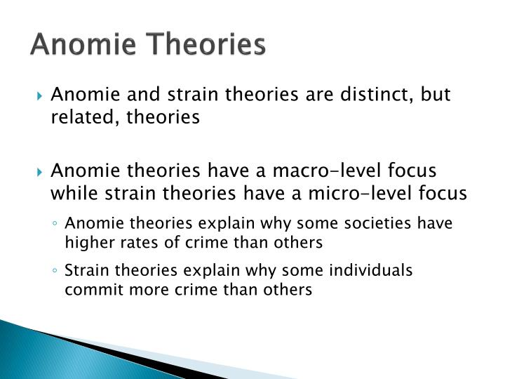 micro level theories of crime