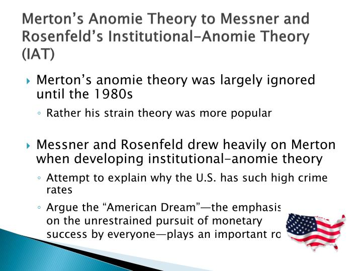 a description of anomie theory of