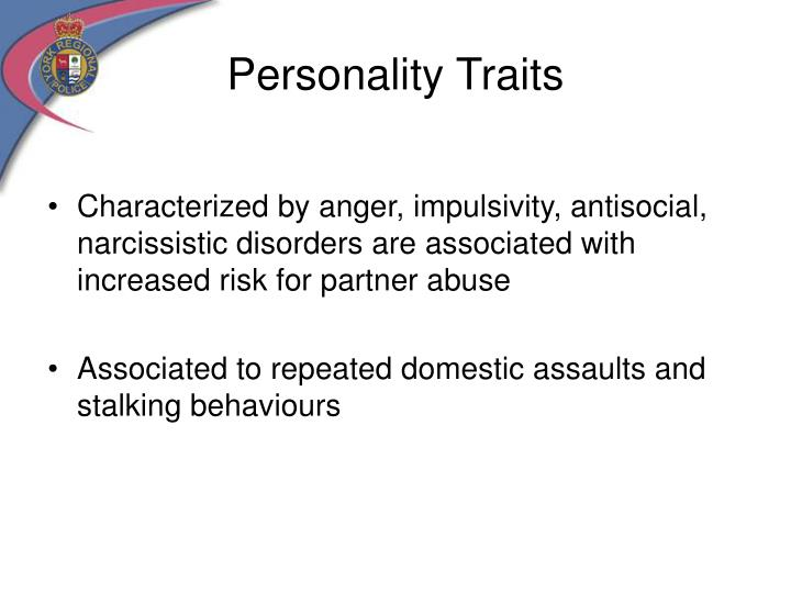 Personality traits of stalkers