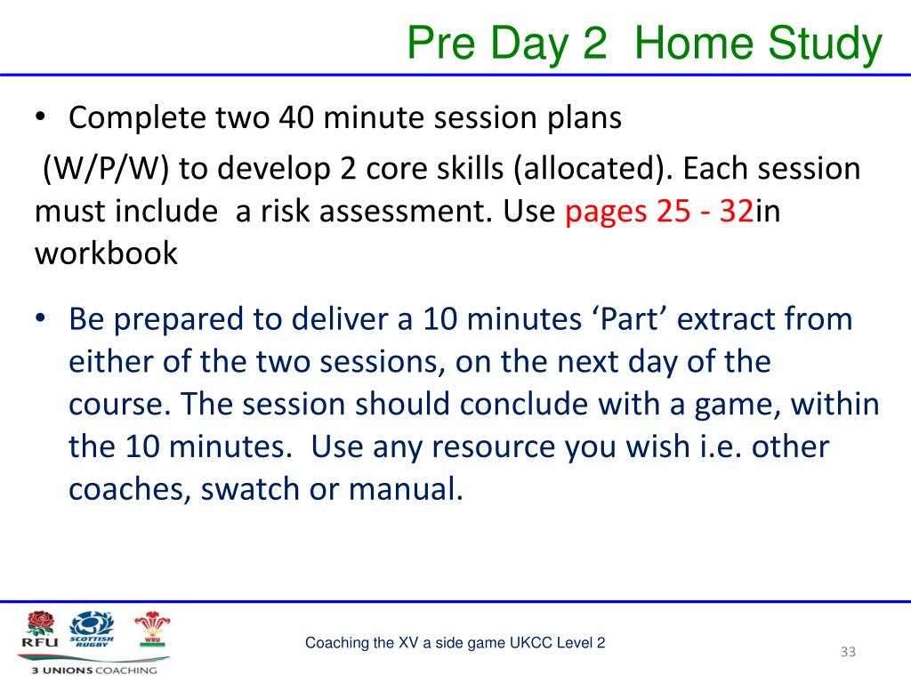 PPT - Coaching the XV a side Game PowerPoint Presentation