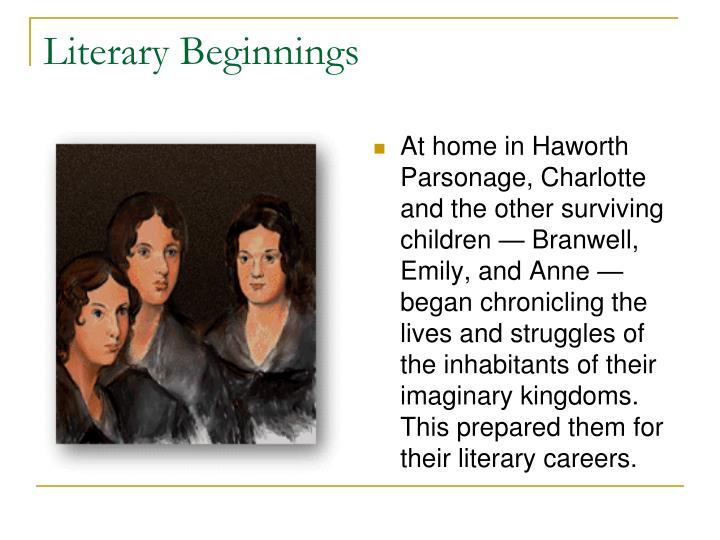 Literary Beginnings
