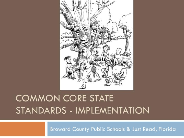 common core state standards implementation n.