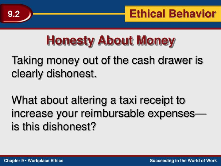 Honesty About Money