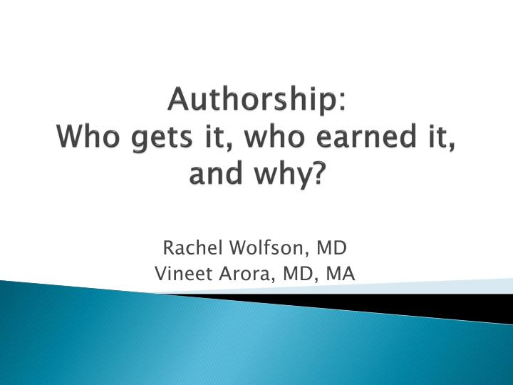 authorship who gets it who earned it and why n.