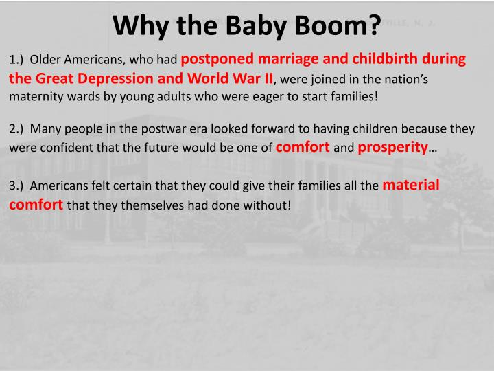 Why the Baby Boom?