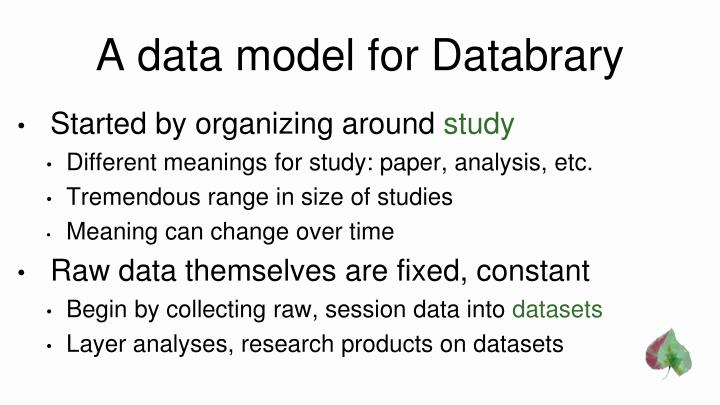 A data model for Databrary