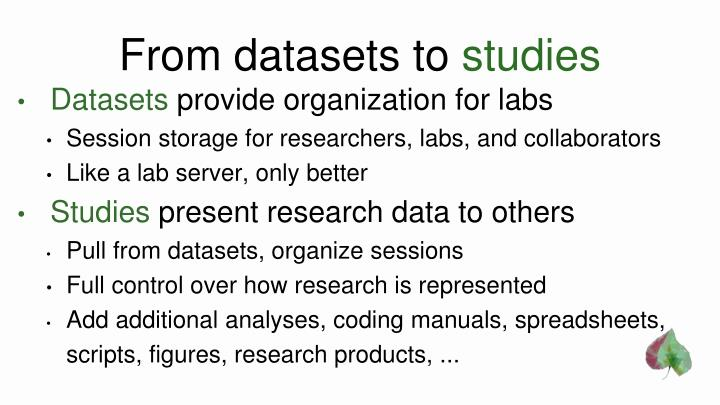 From datasets to