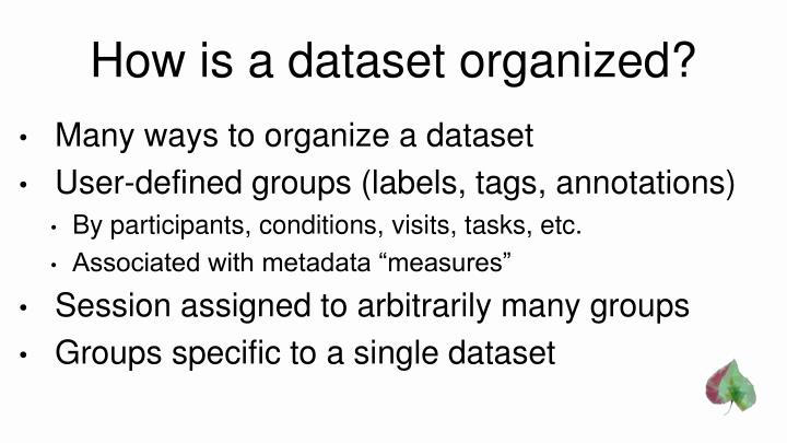 How is a dataset organized?