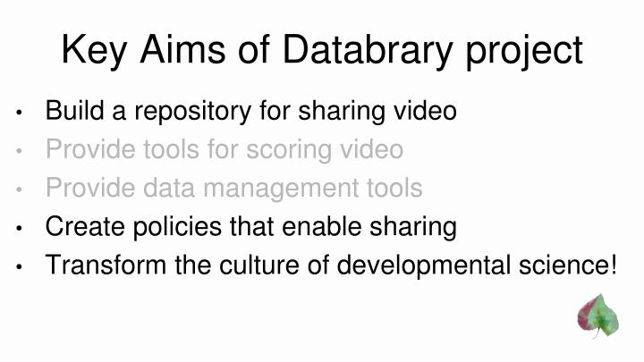 Key aims of databrary project1