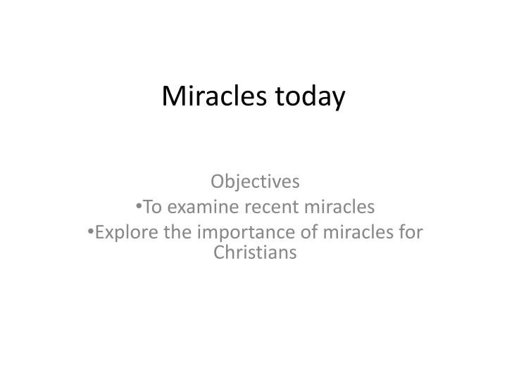 an essay on miracle of science