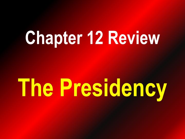 chapter 12 review n.