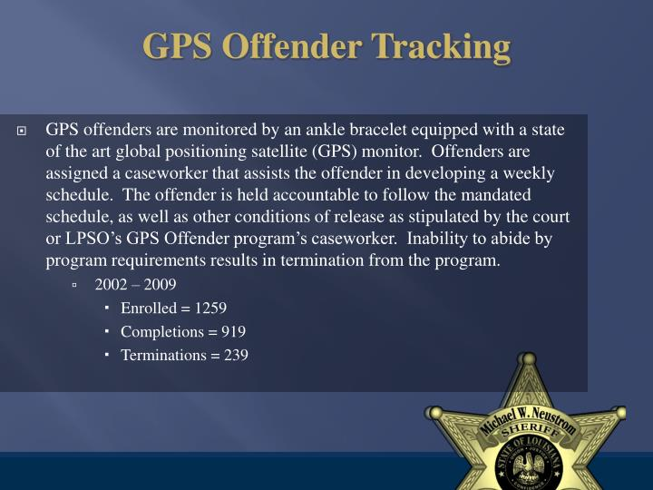 GPS Offender Tracking