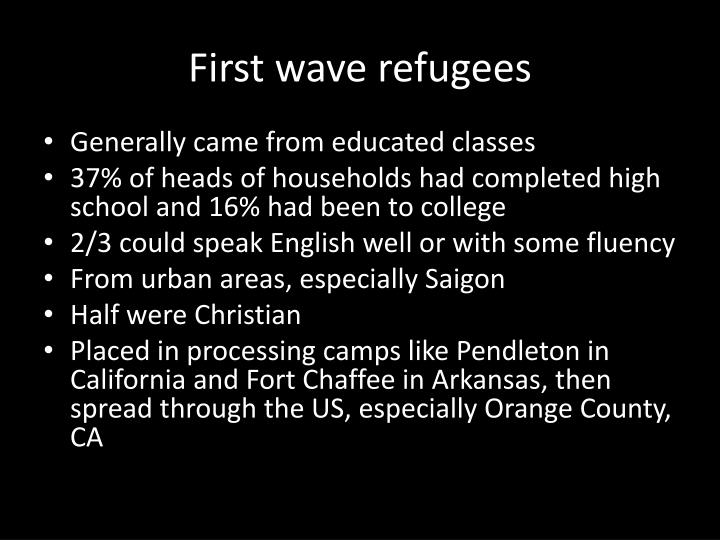 First wave refugees