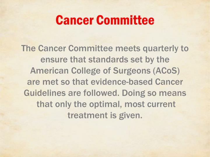 Cancer Committee