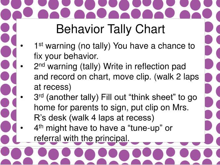 Behavior Tally Chart