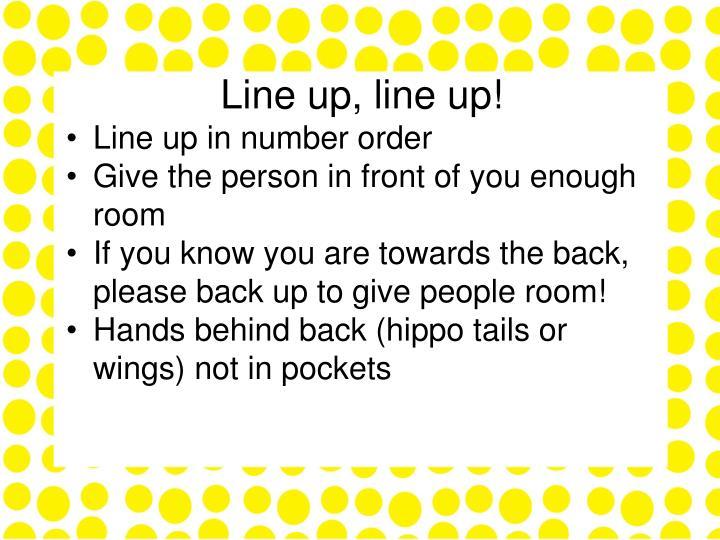 Line up, line up!