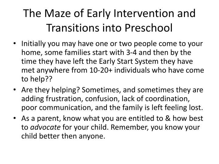 transition from early intervention to preschool ppt don t leave our ctebvi conference 106