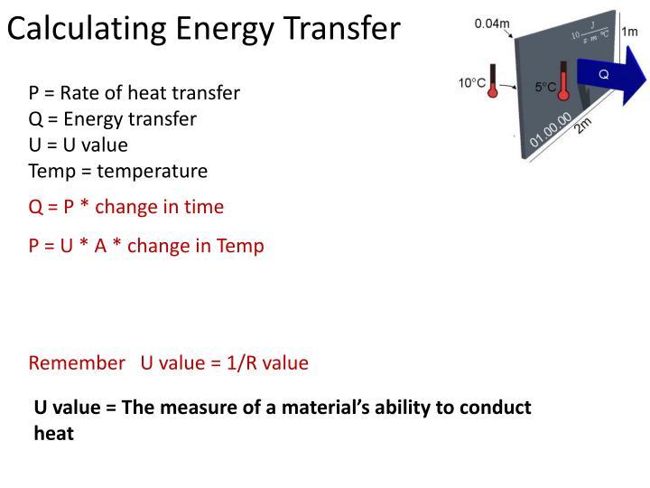Calculating Energy Transfer