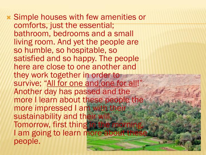 Simple houses with