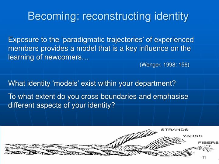 Becoming: reconstructing identity