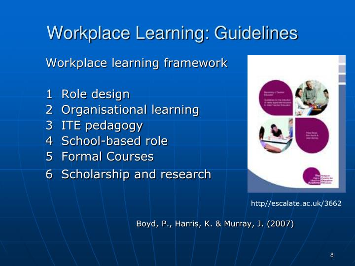 Workplace Learning: Guidelines