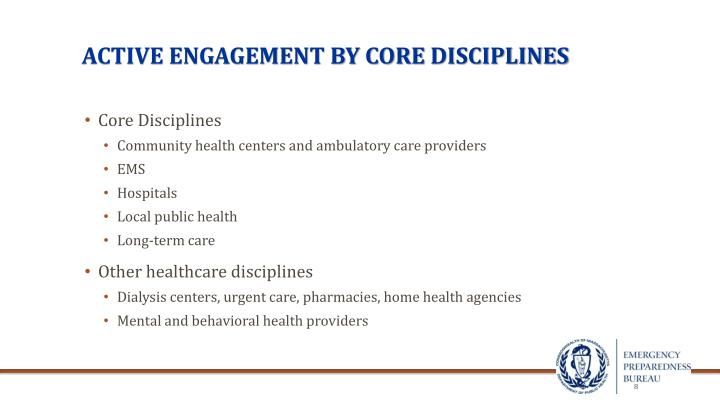 Active engagement by core