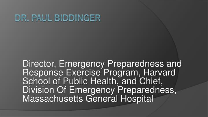 Director, Emergency Preparedness