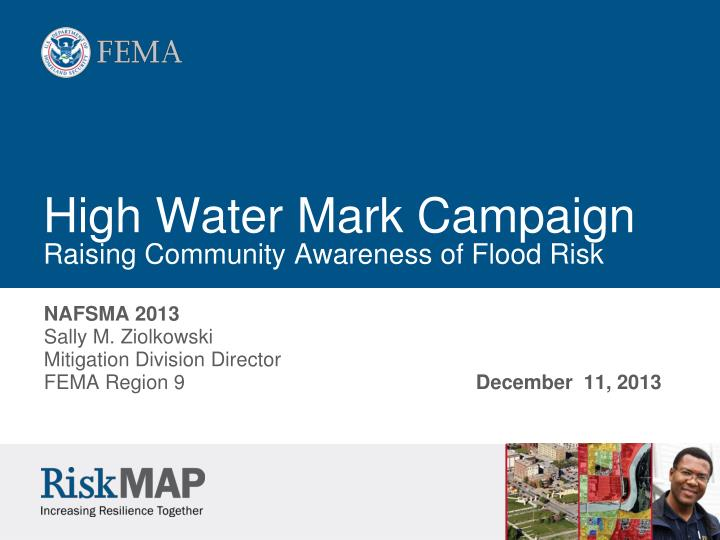 high water mark campaign raising community awareness of flood risk n.