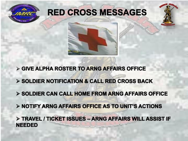 RED CROSS MESSAGES