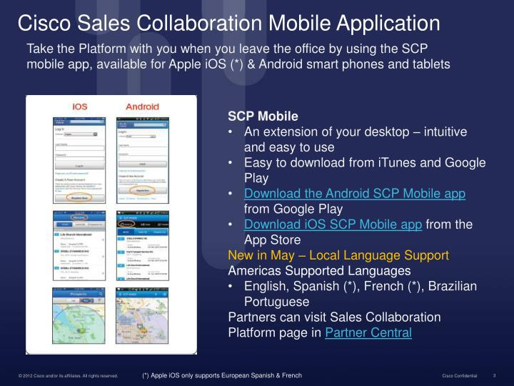 Cisco sales collaboration mobile application