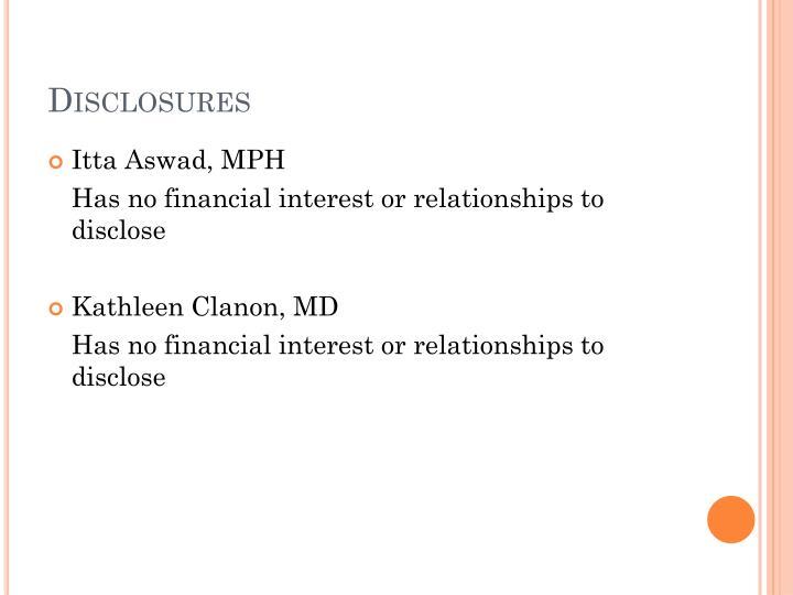 Disclosures1