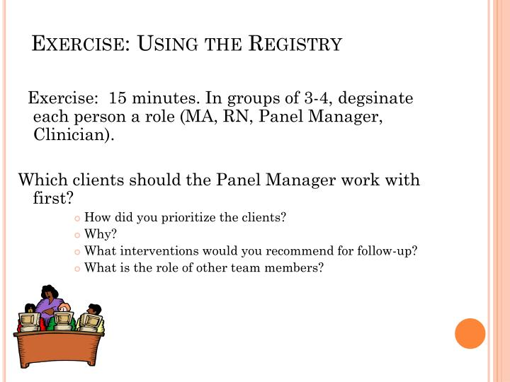 Exercise: Using the Registry