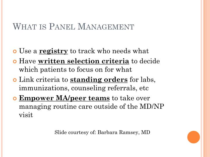 What is Panel Management
