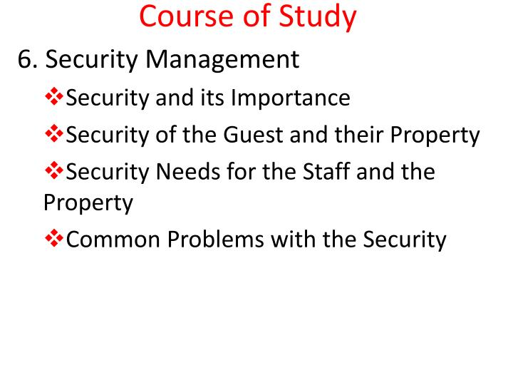course of study n.