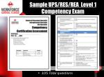 sample ups res rea level 1 competency exam