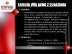 sample wia level 2 questions