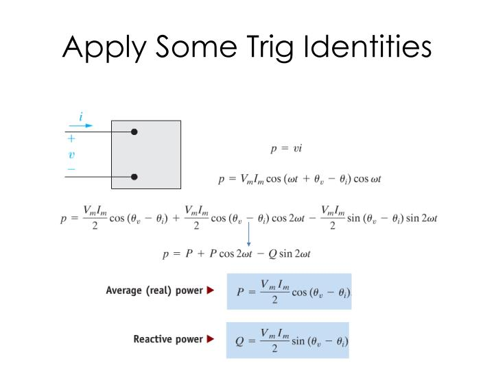 Apply Some Trig Identities