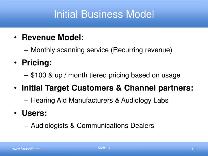 Initial Business Model