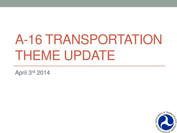 a 16 transportation theme update n.