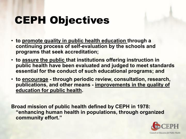 Ceph objectives