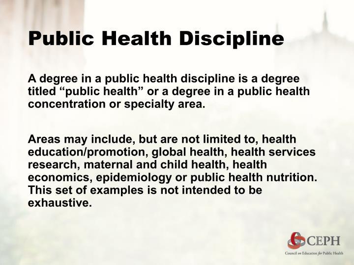 Public Health Discipline