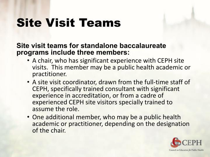 Site Visit Teams