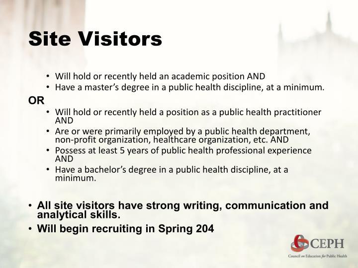 Site Visitors