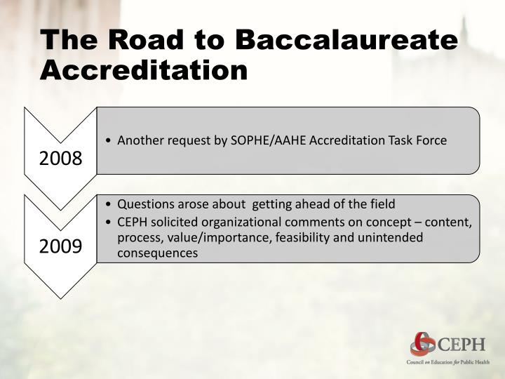 The Road to Baccalaureate Accreditation