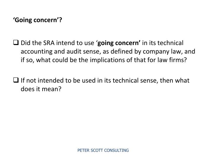 'Going concern'?