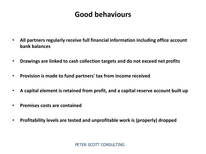 Good behaviours